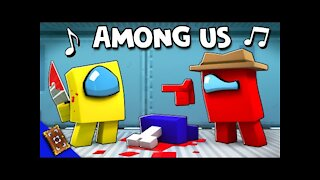 Among Us Minecraft Animation music video (lying to me)