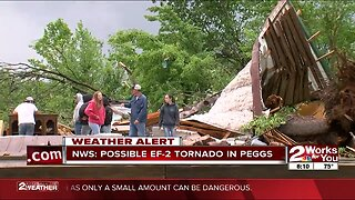 Tornado rips apart neighborhood in Peggs