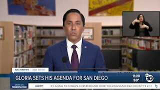 Gloria sets his agenda for San Diego