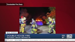 Two houses damaged in house fire overnight
