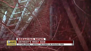 Two children, one adult injured in house fire on Detroit's west side