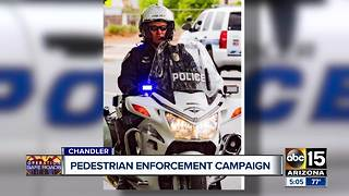 Chandler Police kick of pedestrian safety campaign