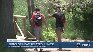 Signs of heat-related illness