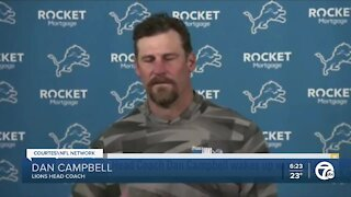 Lions coach Dan Campbell said his press conference was for fans, players