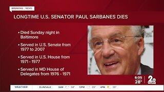 Longtime U.S. Senator Paul Sarbanes dies