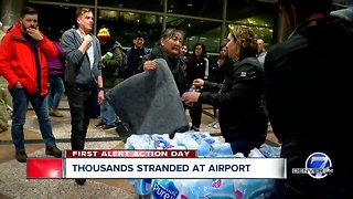 Thousands stranded at airport