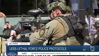 Less-lethal force police protocols