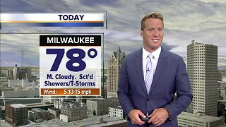 Scattered showers, storms possible throughout the day Friday
