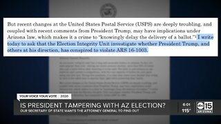 Is the president tampering with the Arizona election?