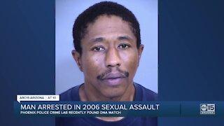 Phoenix police arrest man in 2006 sexual assault