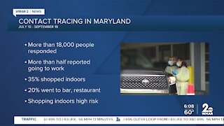 Contact tracing in Maryland