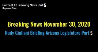 Breaking News November 30, 2020! Rudy Giuliani Hearing Arizona Legislature Part 5