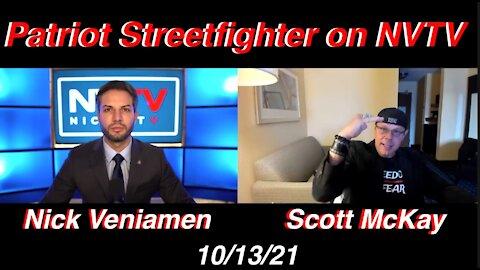 10.13.21 Patriot Streetfighter on Nick V TV: Pushback Emerging, PSF TOUR Update