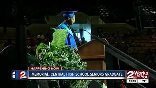 Memorial, Central High School seniors graduate Thursday