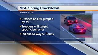 Michigan State Police cracking down on distracted drivers