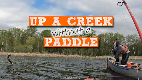 S2:E15 Up a Creek without a Paddle & a Northern Pike Haul | Kids Outdoors