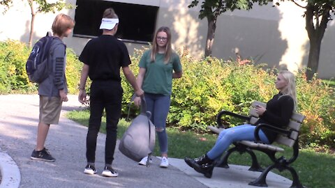 Social experiment: Girl gets bullied by boys in public