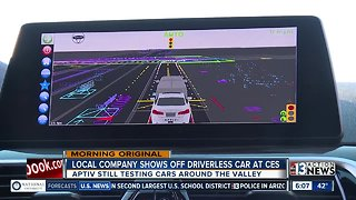 A look at self-driving cars driving around Las Vegas