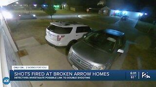 Shots fired at Broken Arrow homes