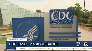 CDC eases mask guidelines