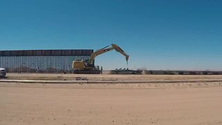 WATCH: Timelapse of border construction in Arizona