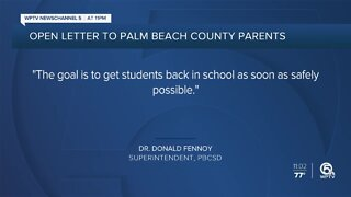 Palm Beach County superintendent issues message to parents after reopening plan approved