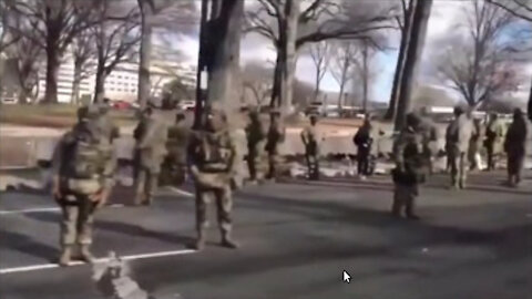 Why did the soldiers act so strangley? Two odd scenes captured on camera on the inauguration day