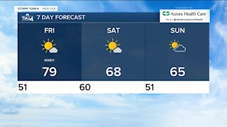 Chilly evening, warm and windy Friday in store