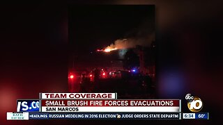 Crews stop fast-moving San Marcos brush fire