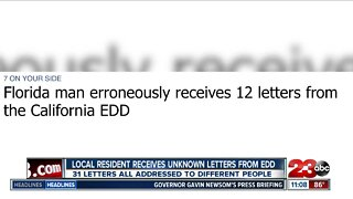 Woman receives 31 letters from the Employment Development Department