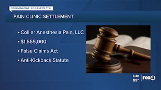 Pain clinic agrees to settlement