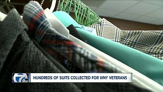 Hundreds of business suits donated to Western New York veterans