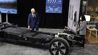 President Biden speaks after touring Ford Rouge Electric plant in Dearborn