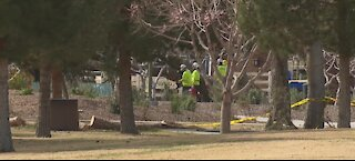 Craig Ranch Park in North Las Vegas remains closed after Saturday's wind, storm