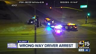 Wrong-way driver arrested in Gilbert