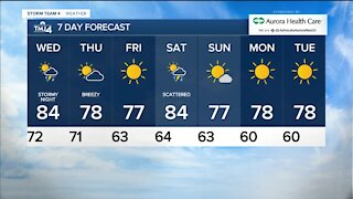Wednesday is sunny with highs in the 80s