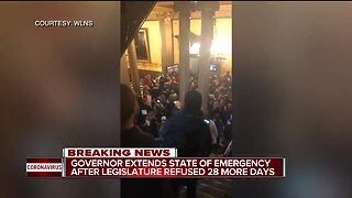 Governor extends state of emergency after legislature refused 28 more days