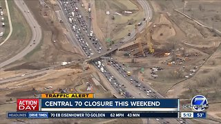 Central 70 closure this weekend