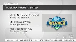 Werner Park removes mask requirement per MLB directive