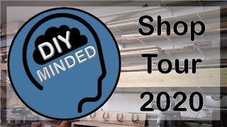 A tour of the DIY Minded workshop. Shop Tour 2020