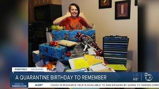 A quarantine birthday to remember