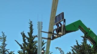 Hearst Castle installing solar panels