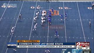 Oklahoma State welcomes #17 Boise State to Stillwater Saturday
