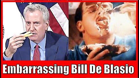 "De Blasio: ""Vaccination mmm"" - Watch New York Mayor Eat Burgers & Fries like George Costanza"