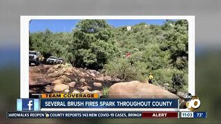 Several brush fires spark throughout county
