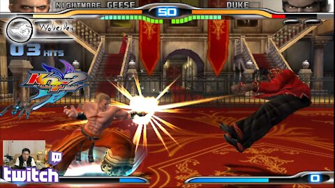 (PS2) KOF Maximum Impact 2 - 23 - Nightmare Geese - Lv Gamer - Geese your ALIVE!...*** Craps pants!