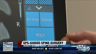 GPS-guided spine surgery robot