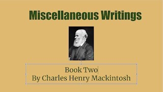 Miscellaneous Writings of CHM Book 2 Now and Then Audio Book