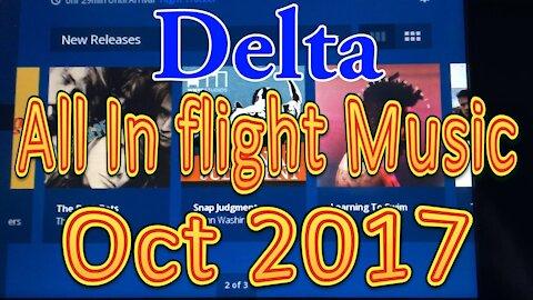 Delta's In flight Music for October 2017