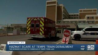HAZMAT scare at Tempe train derailment scene